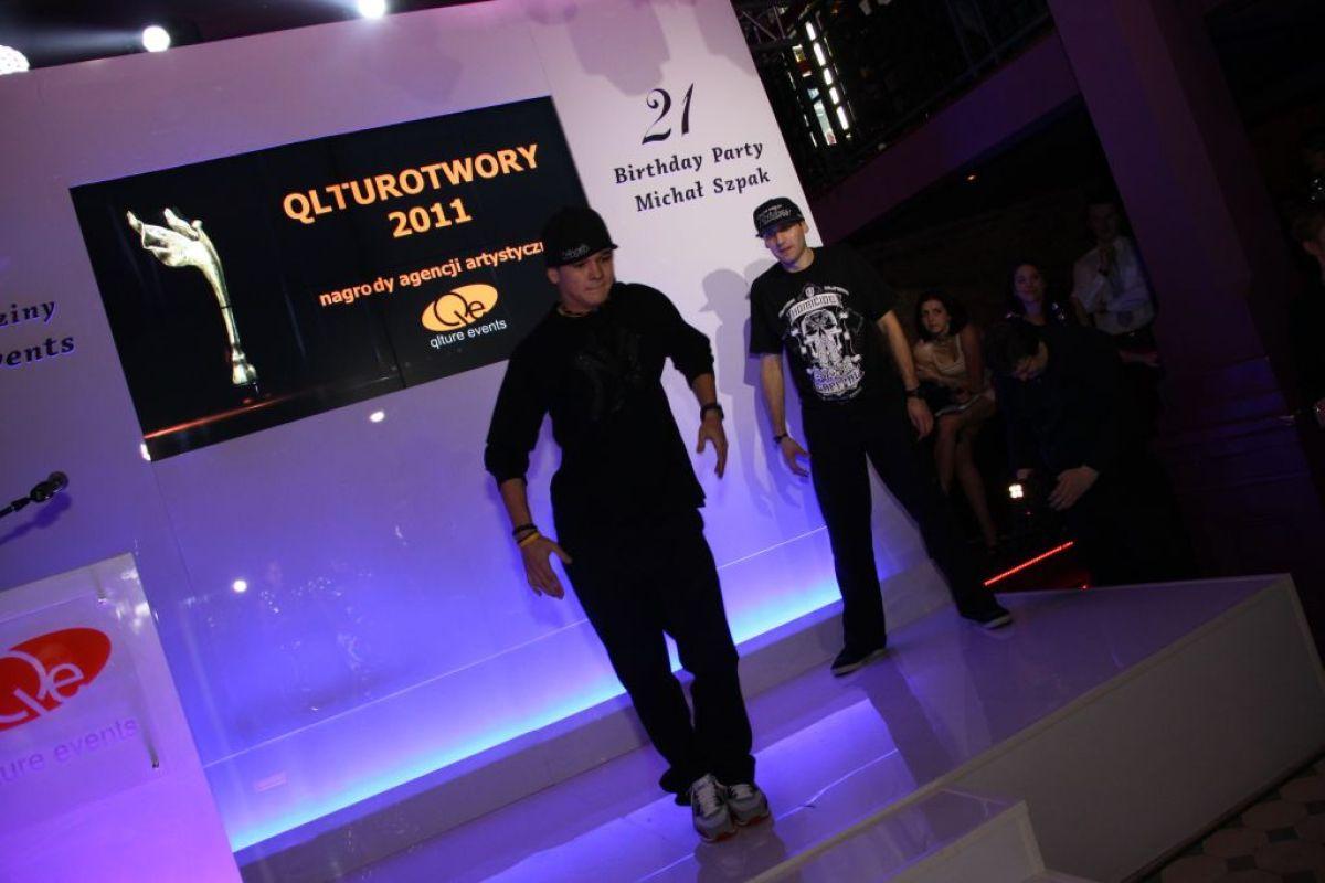 Kaczorex i Lipsky mna imprezie urodzinowej Qlture Events i Michała Szpaka